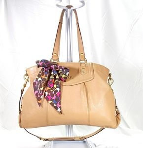 Coach Madison Tan Leather Shoulder Bag